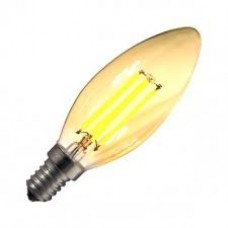Bombilla LED E14 Regulable Filamento Classic Gold C35 3.5W