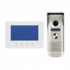 Videoportero Cableado con Cámara Blanco