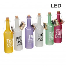 BOTELLA DECORACION CON 5 LEDS  7,3X28CM