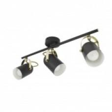 Lámpara de Techo Lineal Orientable Cano 3 Focos Negro