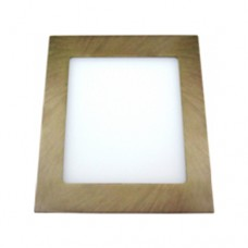 Downlight Empotrado Cuadrado 18W - 6500K Color Bronce (Madera)