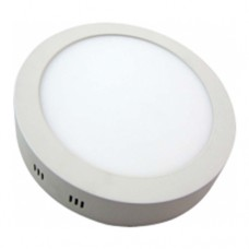 Downlight LED de color blanco y superficie redondo: 18W, 4000K, 1425LM