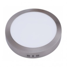 Downlight LED de color níquel (plata) y superficie redondo: 18W, 4000K, 1425LM