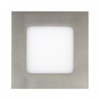 Placa LED Cuadrada Slim 12W Niquel