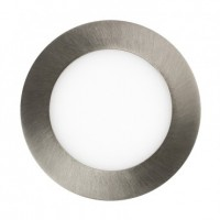 Placa LED Circular Slim 6w Niquel