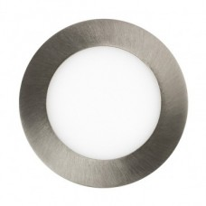 Placa LED Circular Slim 12W Niquel