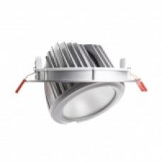 Foco Proy. LED 120lm/W Direccionable Circular Plata 60W