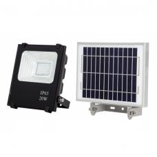 Proyector Solar 20w 1600lm 6500k  NegrO