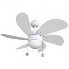 Ventilador Blanco  6 Aspas Blancas 1xe27 77 D