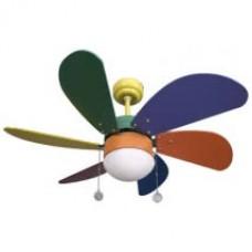 Ventilador Colores 6 Aspas Colores 1xe27 77d