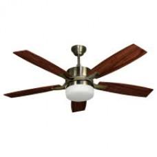 Ventilador Cuero 5 Aspas Cerezo/nogal 2xe27 132d