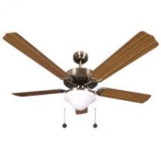 Ventilador Cuero  5 Aspas Roble2xe27 130d