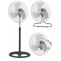 Ventilador Industrial  3 En 1 80w 46d 3 Velocidades Cromo/negro