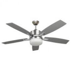 Ventilador Niquel 5 Aspas Plata/haya 2xe27 132d