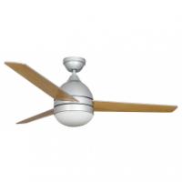 Ventilador Plata Alisio 3 Aspas Plata/haya 2xe27 122d